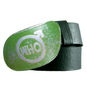 Who, The: Belt - Green Leather Belt by Lambretta