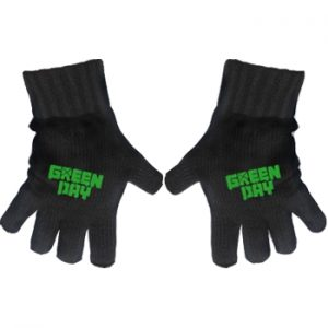 Green Day: Gloves - Green Logo Fingerless