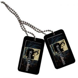 Kurt Cobain: Dog Tags - Blue Crest Necklace