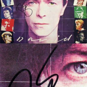 David Bowie: Autograph - Signed Album Cover