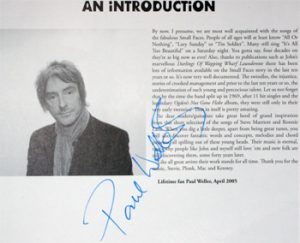 Paul Weller: Autograph - Signed Songbook Framed