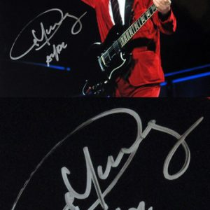 AC/DC: Autograph - Angus Young Signed Photo (Black)