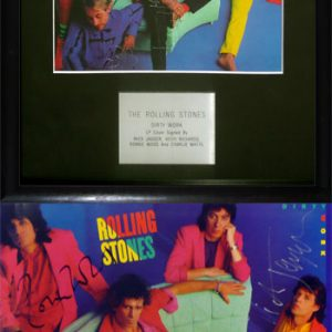 Rolling Stones, The - Autograph - Signed Dirty Work Album