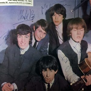 Rolling Stones, The: Autograph - Signed 1964 Record Mirror Front Page
