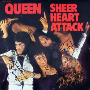 Queen: Autograph - Signed Album Cover