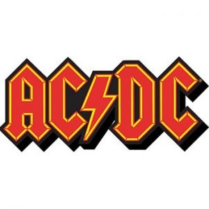 AC/DC: Fridge Magnet - Red Logo