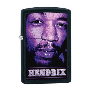 Jimi Hendrix: Zippo Lighter - Purple Haze Face