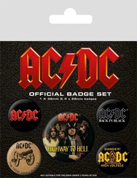 AC/DC: Badge Pack - Set of 5