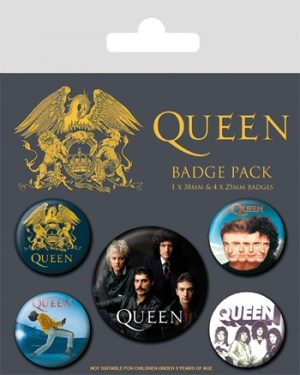 Queen:  Classic Badge Pack - Set of 5