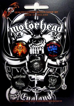 Motorhead: Badge Pack - England Set of 5