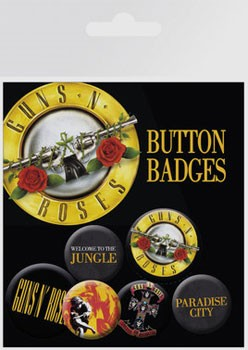Guns N' Roses: Badge Pack - Lyrics and Logos