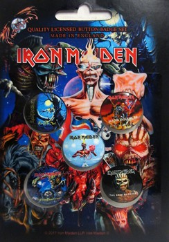 Iron Maiden: Badge Pack - Albums Set of 5