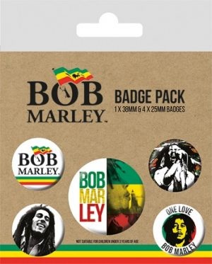 Bob Marley: Badge Pack - Set of 5