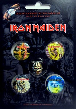 Iron Maiden: Badge Pack - Faces of Eddie Set of 5