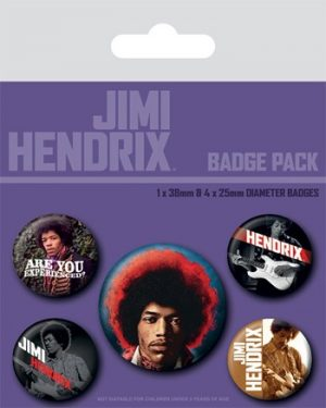 Jimi Hendrix: Badge Pack - Experience Set of 5