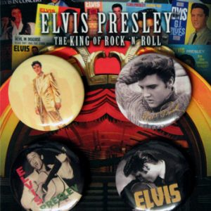 Elvis Presley: Badge Pack - Set of 4