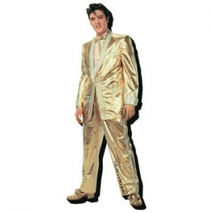Elvis Presley: Fridge Magnet - Gold