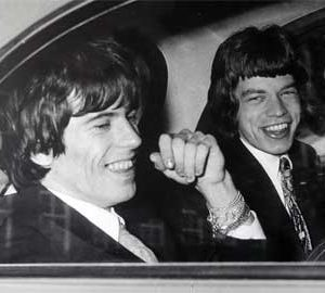 Rolling Stones. The: Photograph (unframed) - Mick Jagger and Keith Richards