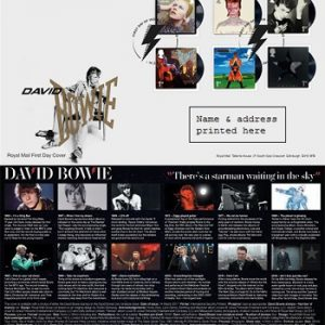 David Bowie: Stamps - London First Day Cover Stamps