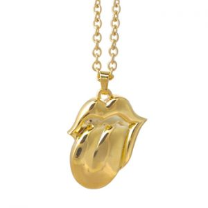 Rolling Stones, The: Necklace - Gold Tongue