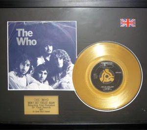 Who, The: Framed Discs - Gold Single - Won't Get Fooled Again