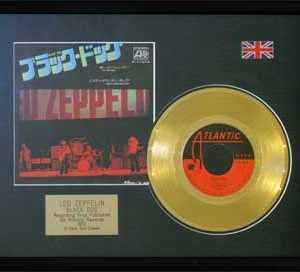 Led Zeppelin: Framed Discs - Gold Single - Black Dog