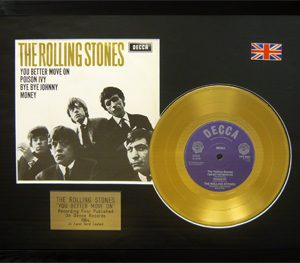 Rolling Stones, The: Framed Discs - Gold Single - You Better Move On