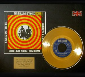 Rolling Stones, The: Framed Discs - Gold Single - 2000 Light Years From Home