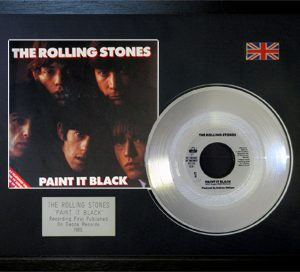 Rolling Stones, The: Framed Discs - Silver Single - Paint It Black