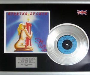 Rolling Stones, The: Framed Discs - Silver Single - She Was Hot