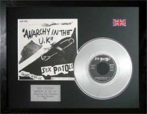 Sex Pistols: Framed Discs - Silver Single - Anarchy In The UK