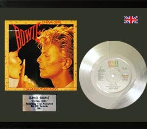 David Bowie: Framed Discs - Silver Single - China Girl