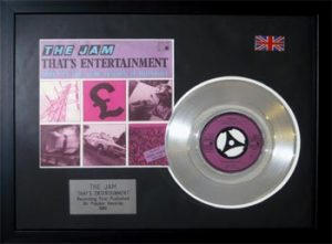 Jam, The: Framed Discs - Silver Single - That's Entertainment