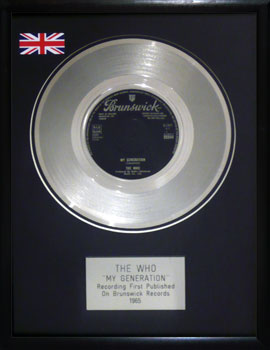 Who, The: Framed Discs - Silver Single - My Generation (no sleeve)