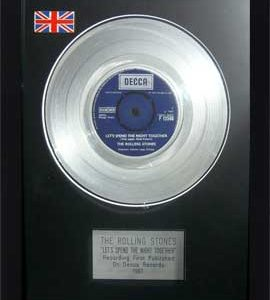 Rolling Stones, The: Framed Discs - Silver Single - Let's Spend The Night Together (no sleeve)
