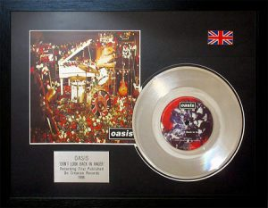 Oasis: Framed Discs - Silver Single - Don't Look Back in Anger