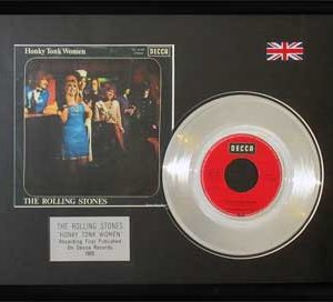 Rolling Stones, The: Framed Discs - Silver Single - Honky Tonk Woman