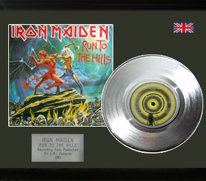 Iron Maiden: Framed Discs - Silver Single - Run to the Hills