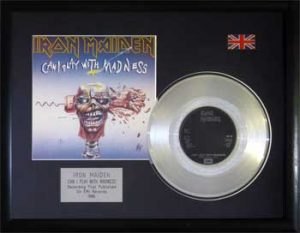 Iron Maiden: Framed Discs - Silver Single - Can I Play with Madness