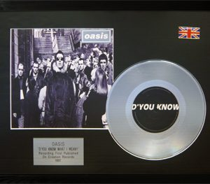 Oasis: Framed Discs - Silver Single - Do You Know What I Mean