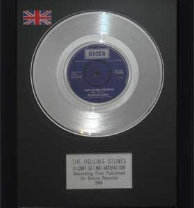 Rolling Stones, The: Framed Discs - Silver Single - Satisfaction (no sleeve)