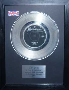 Who, The: Framed Discs - Silver Single - I Can?t Explain (no sleeve)