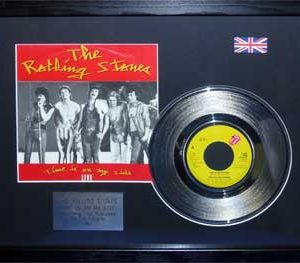 Rolling Stones, The: Framed Discs - Silver Single - Time Is On My Side