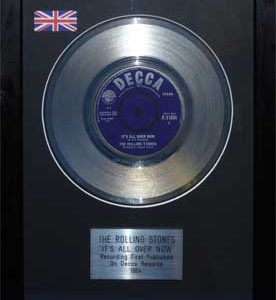 Rolling Stones, The: Framed Discs - Silver Single - It?s All Over Now (no sleeve)