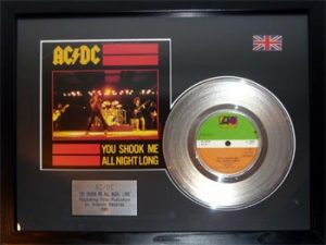 AC/DC: Framed Discs - Silver Single - You Shook Me All Night Long