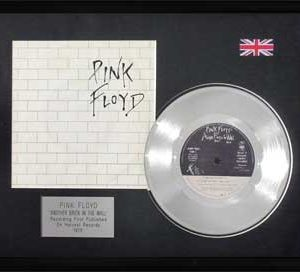 Pink Floyd: Framed Discs - Silver Single - Another Brick In The Wall