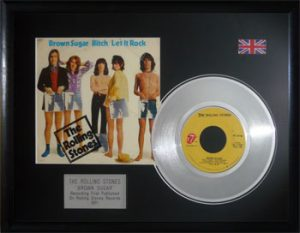 Rolling Stones, The: Framed Discs - Silver Single - Brown Sugar