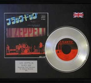 Led Zeppelin: Framed Discs - Silver Single - Black Dog