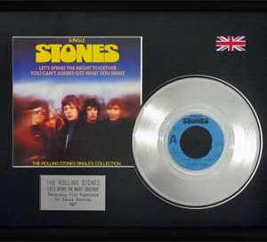 Rolling Stones, The: Framed Discs - Silver Single - Let's Spend the Night Together