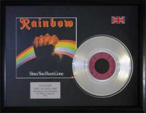 Rainbow: Framed Discs - Silver Single - Since You Been Gone